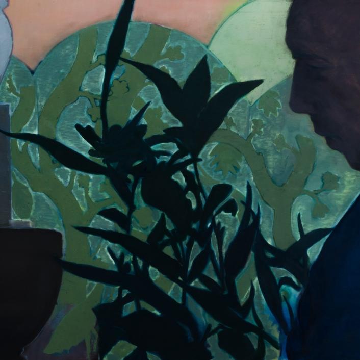 Untitled, 120x100cm, λάδι σε καμβά, 2020, Άγγελος Μεργές