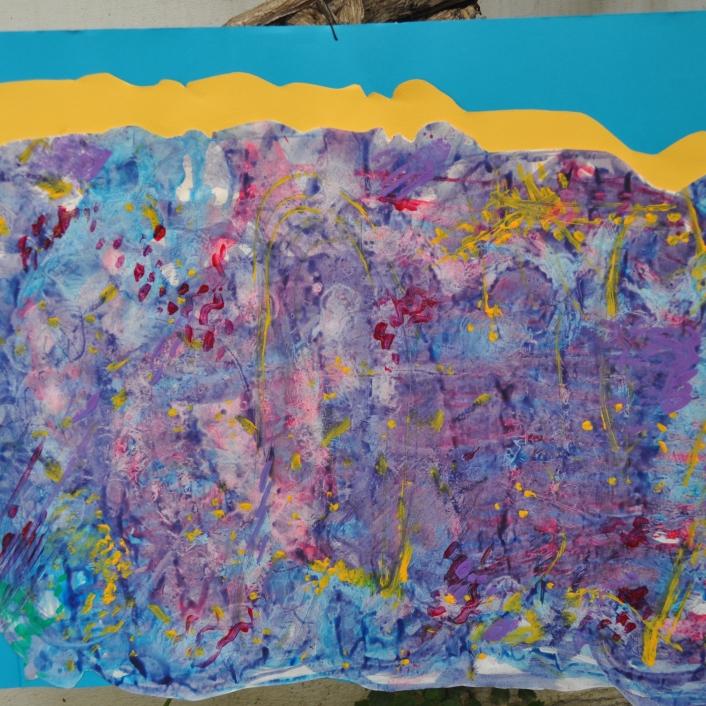 """""""Τσιγγάνικη φούστα"""". Ζωγραφική σε χαρτόνι με ακρυλικό χρώμα.Έργα από Λήπτες Υπηρεσιών Ψυχικής Υγείας , Δομή : Οικοτροφείο «ΙΠΠΟΚΡΑΤΗΣ ΙΙ», Κ.Σ.Δ.Ε.Ο. «ΕΔΡΑ»"""